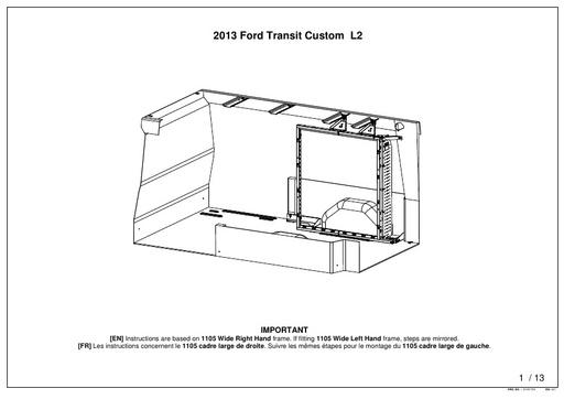 1105mm Wide Front Frame