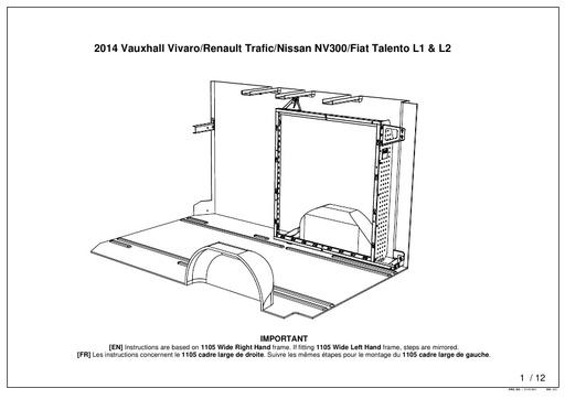 1105mm Wide Frame