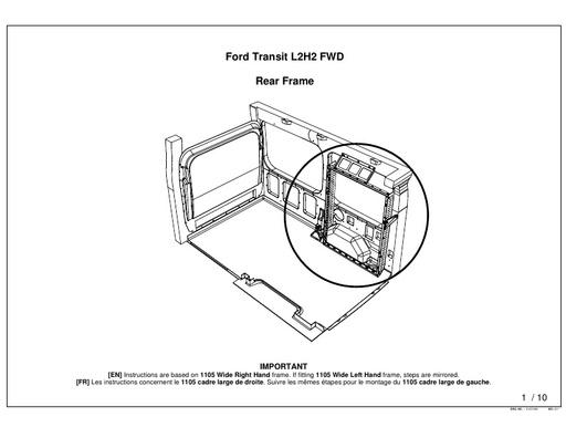 820mm Wide Rear Frame